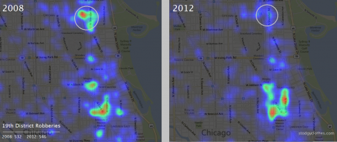 Chicago 19th District Robberies 2008 - 2012
